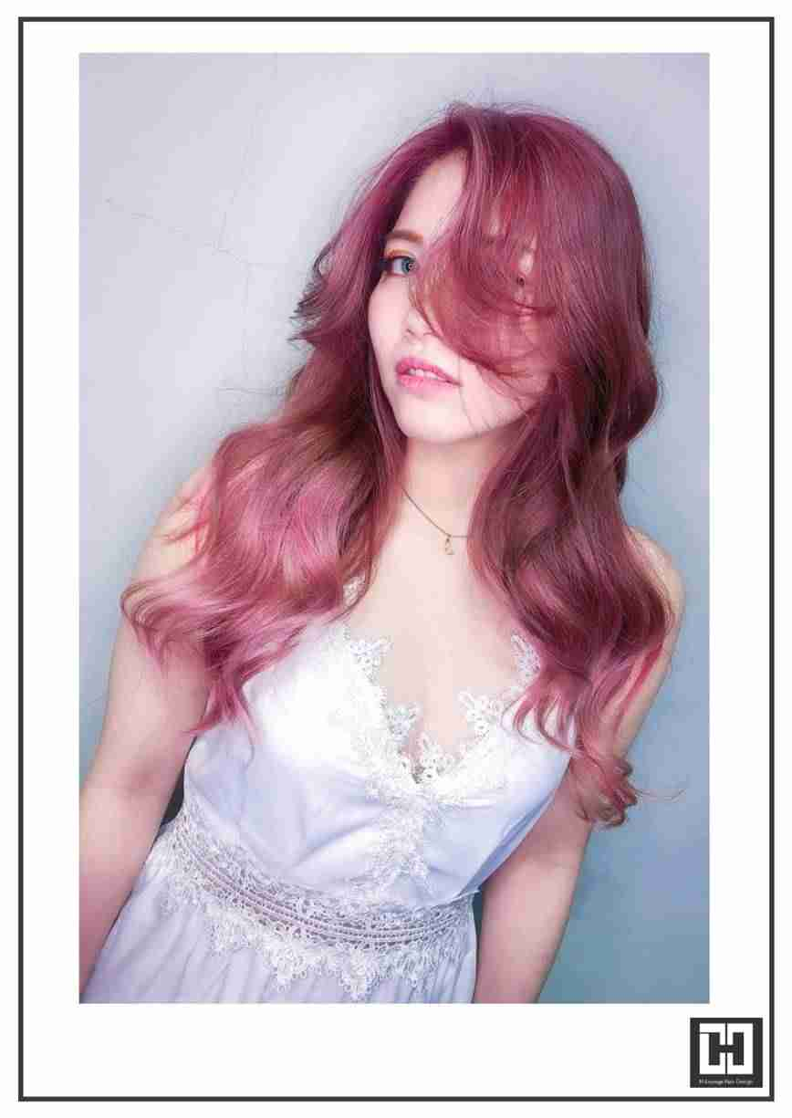 【台中染髮推薦】資生堂ColorMuse「超激顯白的秘訣→草莓奶茶色」