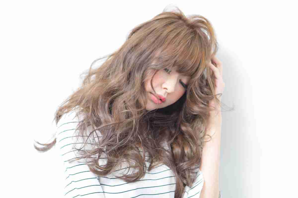 台中燙髮|長髮染燙可愛風