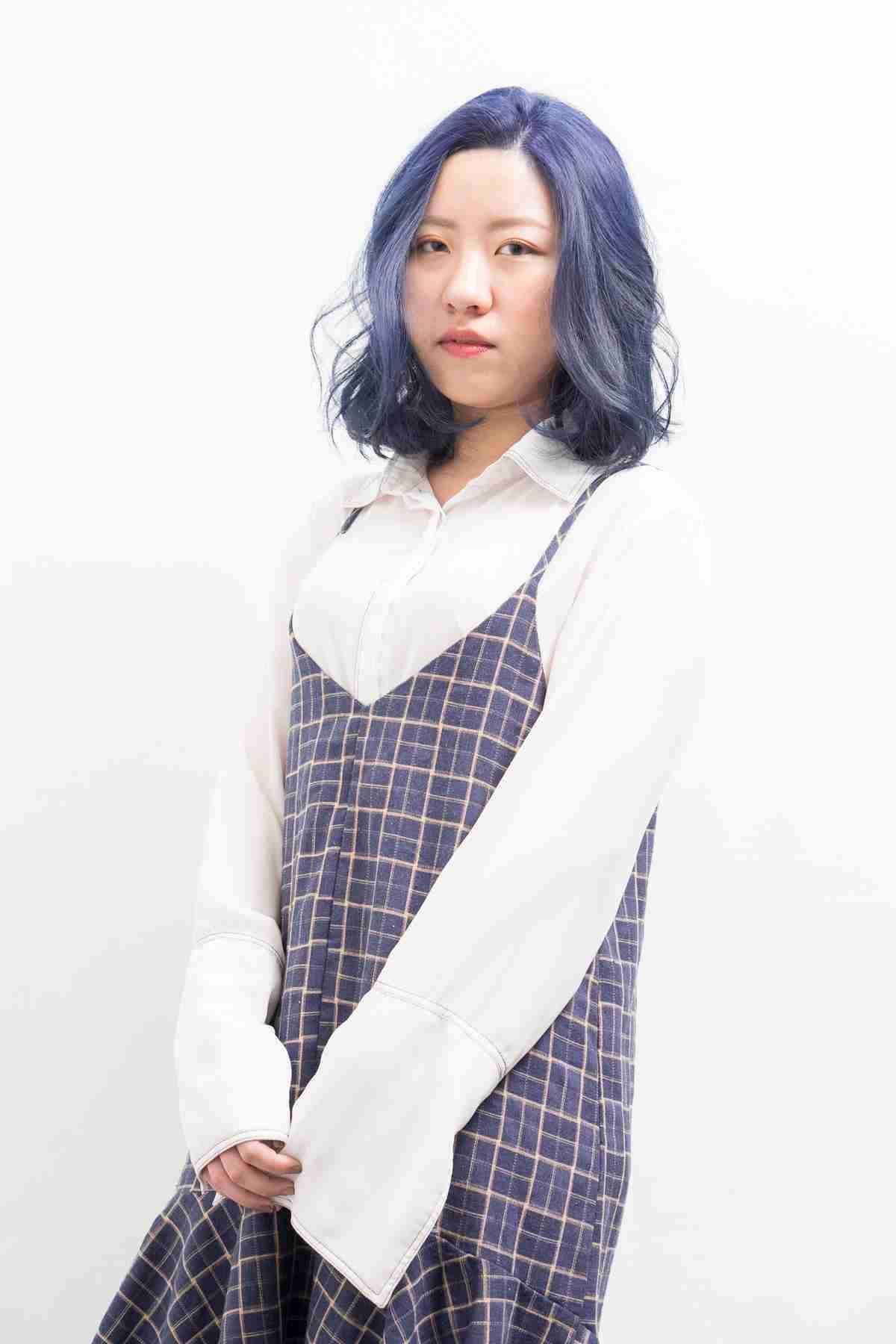 台中染髮紫藍色